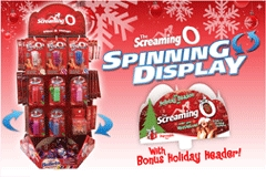 The Screaming O Launches Spinning Display With Holiday Header