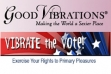 Good Vibrations Asking Shoppers to 'Vibrate the Vote'