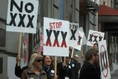 Protestors Stage Rally Against .XXX