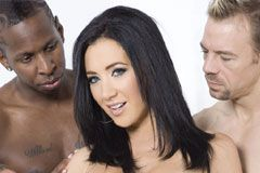 Jayden Jaymes Performs 1st D.P. in 'Gangbanged! 2'