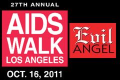 Evil Angel Recruiting Team Members, Donations for AIDS Walk Los Angeles