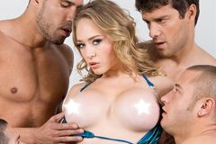 Kagney Linn Karter Gets 'Gangbanged' for Elegant Angel