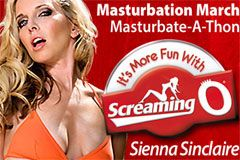 Screaming O Sponsors Sienna Sinclaire's 'Masturbation March' Program