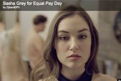 Sasha Grey Advocates Women's Pay Parity in Web Commercial