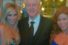 Brooklyn Lee, Tasha Reign Meet Bill Clinton