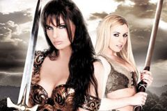 Unveiled the box cover art for their upcoming parody of Xena Warrior