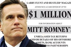 Larry Flynt Offering $1 Million for Mitt Romney's Tax Returns