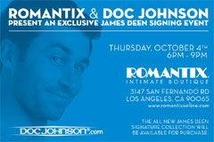 Doc Johnson, Romantix Hosting James Deen In-Store Signing