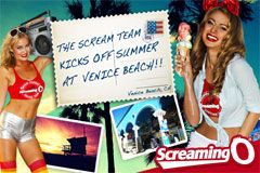Screaming O 'Scream Team' Kicks Off Summer at Venice Beach