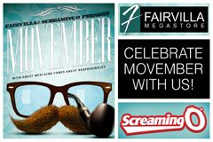 The Screaming O, Fairvilla Team Up for 'Movember' Bash
