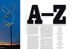 Playboy Magazine Features 'A-Z' Lexicon in May Issue