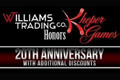 Williams Trading Celebrates Kheper Games Anniversary With Discounts