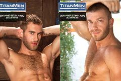 Raging Stallion, TitanMen Sign Hunter Marx, Shawn Wolfe as Co-Exclusives