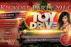 Layla Sin Hosts Toy Drive at Penthouse Club SF