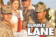 Sunny Lane Entertains Troops at Marine Base